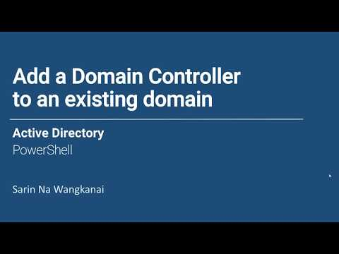 Add secondary Domain Controller in an existing domain - PowerShell