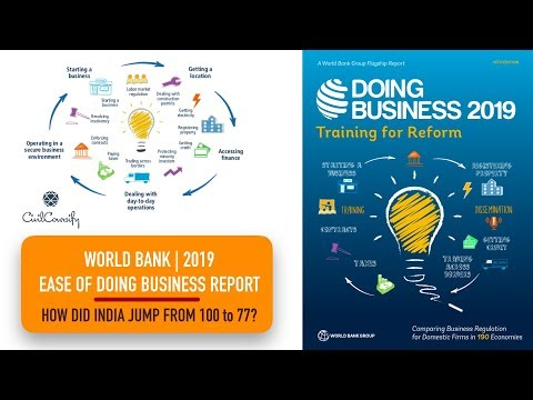 World Bank's EASE OF DOING BUSINESS REPORT 2019 analysis || India's biggest jump in rankings.