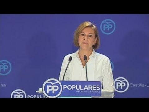 Cospedal pide Ciudadanos que no sea la muleta del PSOE