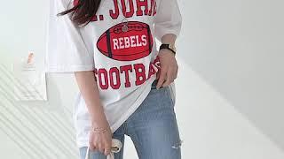 데일리앤 존스 나염 프린팅 박스핏 반팔 티셔츠