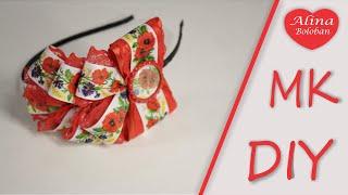 Nova Kanzashi master feita de fitas para ornamentos