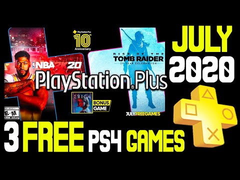PS+ JULY 2020 3 FREE PS4 Games Revealed + A Free Theme! (PlayStation Plus July 2020 PS Plus 2020)
