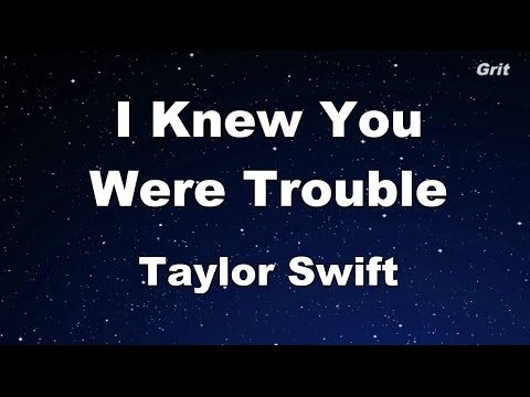 I Knew You Were Trouble - Taylor Swift Karaoke【With Guide Melody】