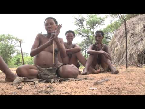 Africa - San People (Bushmen) Village Life