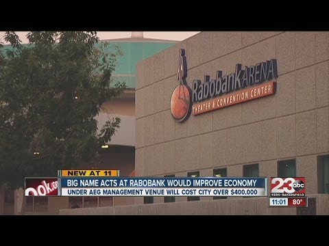 Big name acts at Rabobank would improve economy