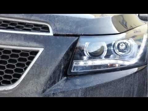 Обзор фар для Chevrolet Cruze 2 Angel Eyes  Audi Style