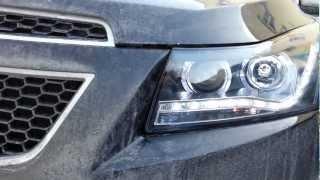Обзор фар для Chevrolet Cruze 2 Angel Eyes  Audi style
