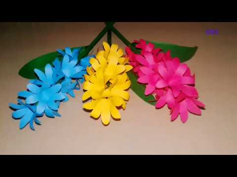 DIY paper craft | Easy flowers making | paper flower craft | How to make paper flowers