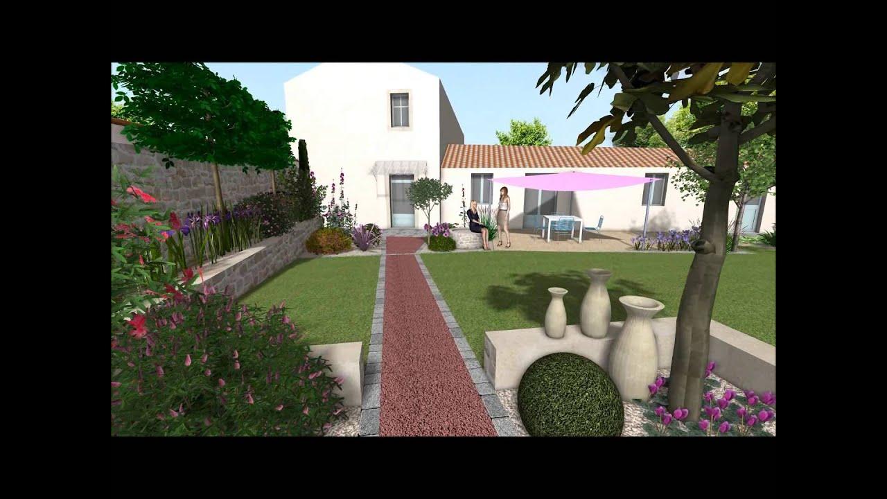 Un petit jardin de ville en vend e youtube for Petit jardin de ville
