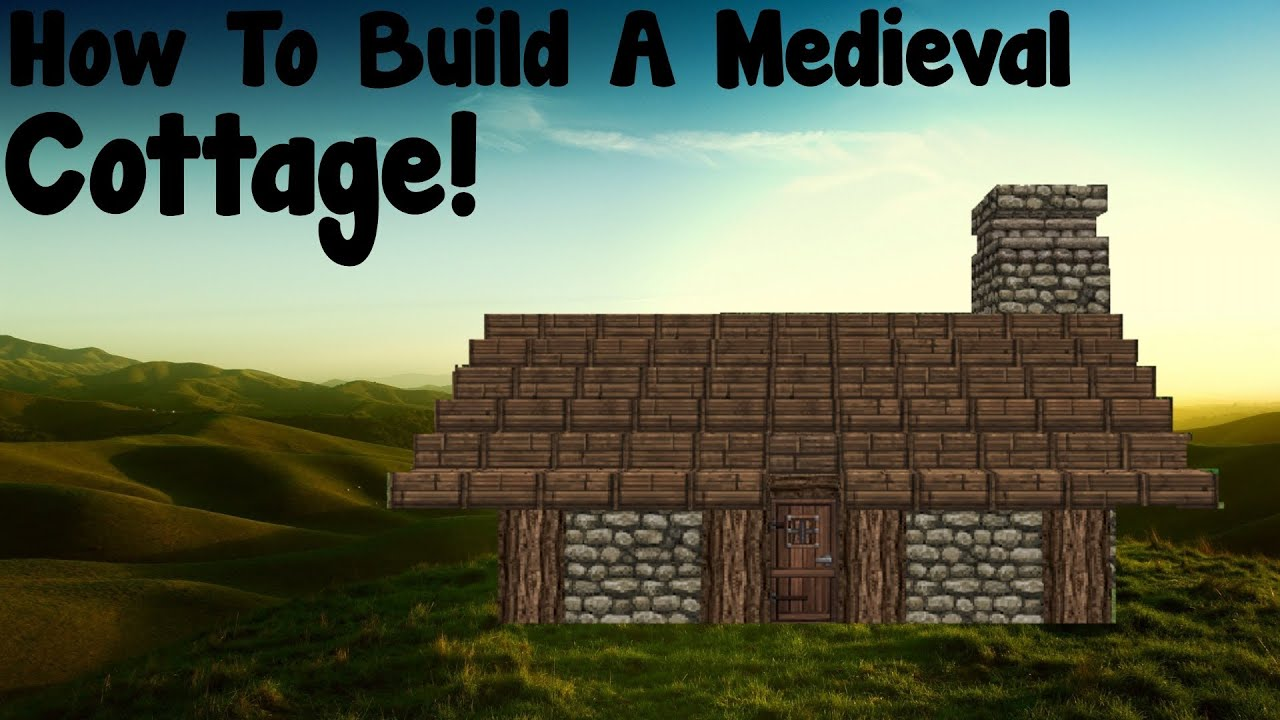 Minecraft tutorial how to build a medieval small cottage for Small cottages to build