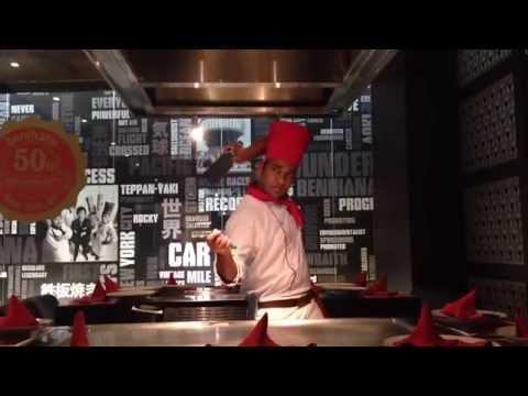 Teppanyaki show by - chef faleel