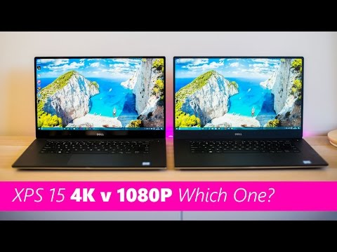 Dell XPS 15 4k V FHD Screen Comparison