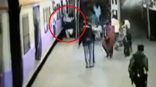 Dadar railway station: man crushed under Mumbai local , Watch Video