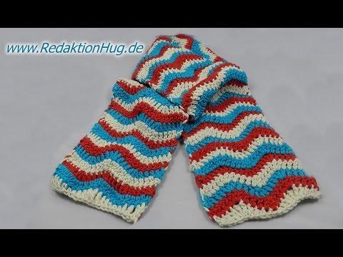 Häkeln - Schal im Zackenmuster aus hatnut XL von Pro Lana - YouTube