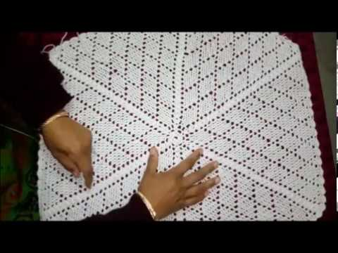 How To Make Woolen Tablecloth Using Crochet In Hindi Youtube