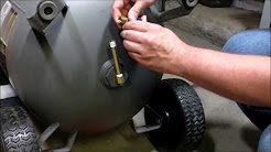 How to install an extended drain system on an air compressor