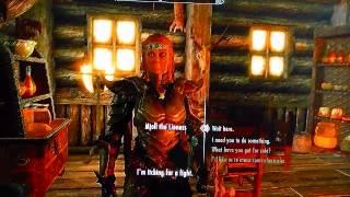 Skyrim Hearthfire 'Kids' Dialogue with Mjoll the Lioness