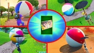 Fortnite All Beach Balls - Bounce a Giant Beach Ball in Different Matches (14 DAYS OF SUMMER)