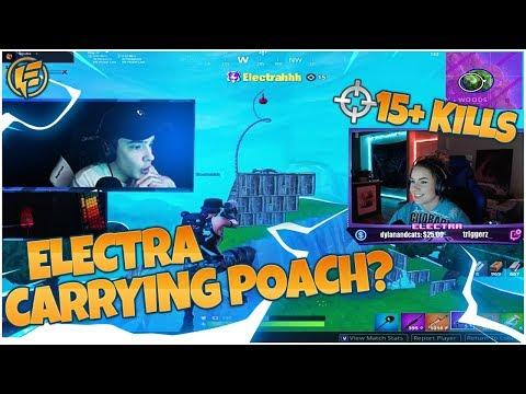 CARRYING LIQUID POACH IN DUOS? HIGH KILL GAMES - Electra Fortnite Gameplay
