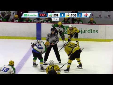 Jeux du Québec – 2017 03 04 – Hockey Masculin Estrie VS Centre du Québec