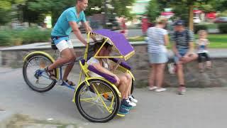 Пассажирская рикша, Велорикша, Пассажирский велосипед, Велотакси pedicab, riksha