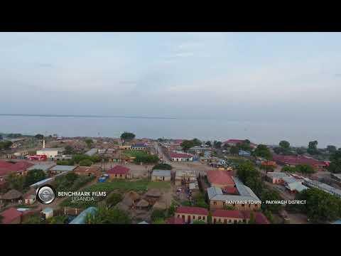 Lake Albert Aerial View & Panyimur Town In Pakwach Uganda