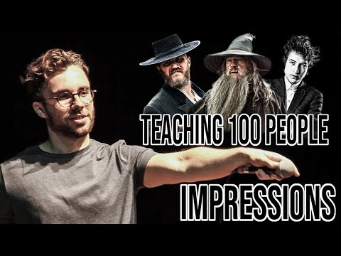 Audience Reacts - Teaching Impressions to 100 People - 동영상