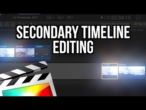 SECONDARY TIMELINE EDITING - FINAL CUT PRO X