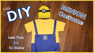 Easy DIY Minion Costume - Less than $4 To Make! - Great Last Minute Halloween Costume