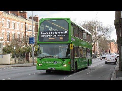 Buses on Mansfield Road Nottingham