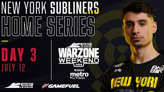 Call of Duty League 2020 Season | New York Subliners Home Series | Day 3