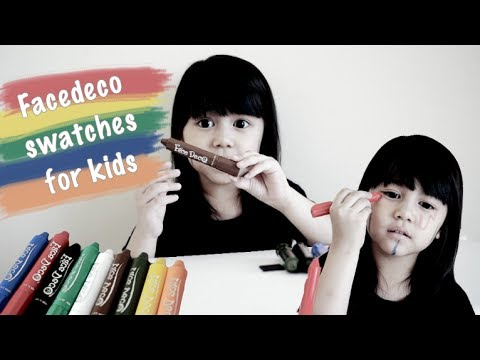 Facedeco swatches for kids [BAHASA INDONESIA]
