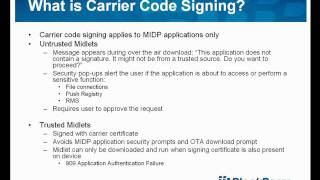 How do I leverage carrier code signing