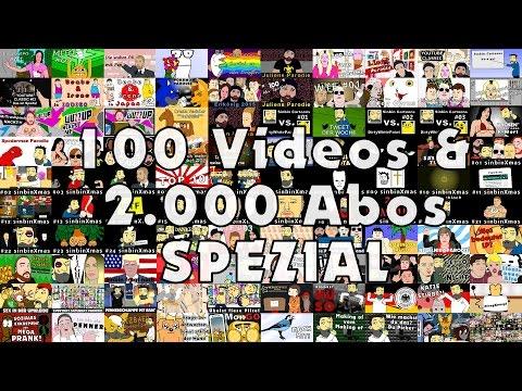 100 Videos auf Youtube