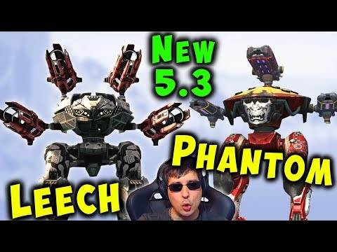 NEW 53 Robots LEECH & PHANTOM Mk2 Gameplay War Robots Update WR