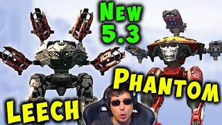 NEW 5.3 Robots LEECH & PHANTOM Mk2 Gameplay War Robots Update WR