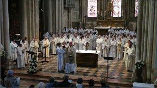 Messe chrismale du 11 avril 2017 , présidée par Mgr B. Rivière, Evêque du Diocèse d'Autun.