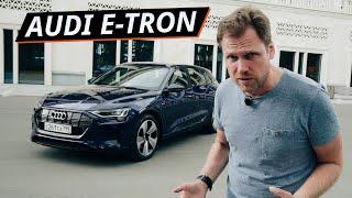 408 л.с?  Замерили реальную мощность электрического Audi e-tron.  Обзор нового кроссовера