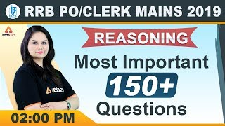 IBPS RRB PO/Clerk Main 2019 | Reasoning | Most Important 150+ Questions