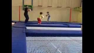 Занятие ОФП на Батуте - дети 4-6 лет (батут для детей 4 5 6 лет)