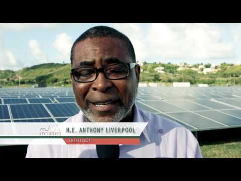 Inauguration of the sun2live solar power plant @ V.C. Bird International Airport Antigua and Barbuda