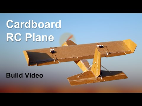How to Make a Cardboard RC Airplane - DIY