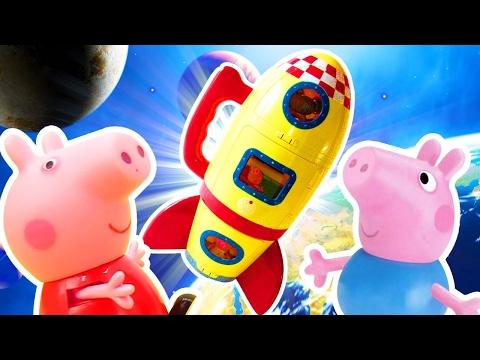 Çocuklar Için Video - Peppa Pig Oyuncakları- Peppa Ve George Rüyalarında Uzaya Gitmişler