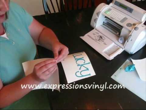 Cricut vinyl complete instructions youtube for Cricut lettering machine