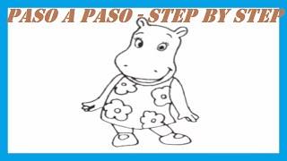Como dibujar a Tasha Backyardigans l How to draw Tasha Backyardigans