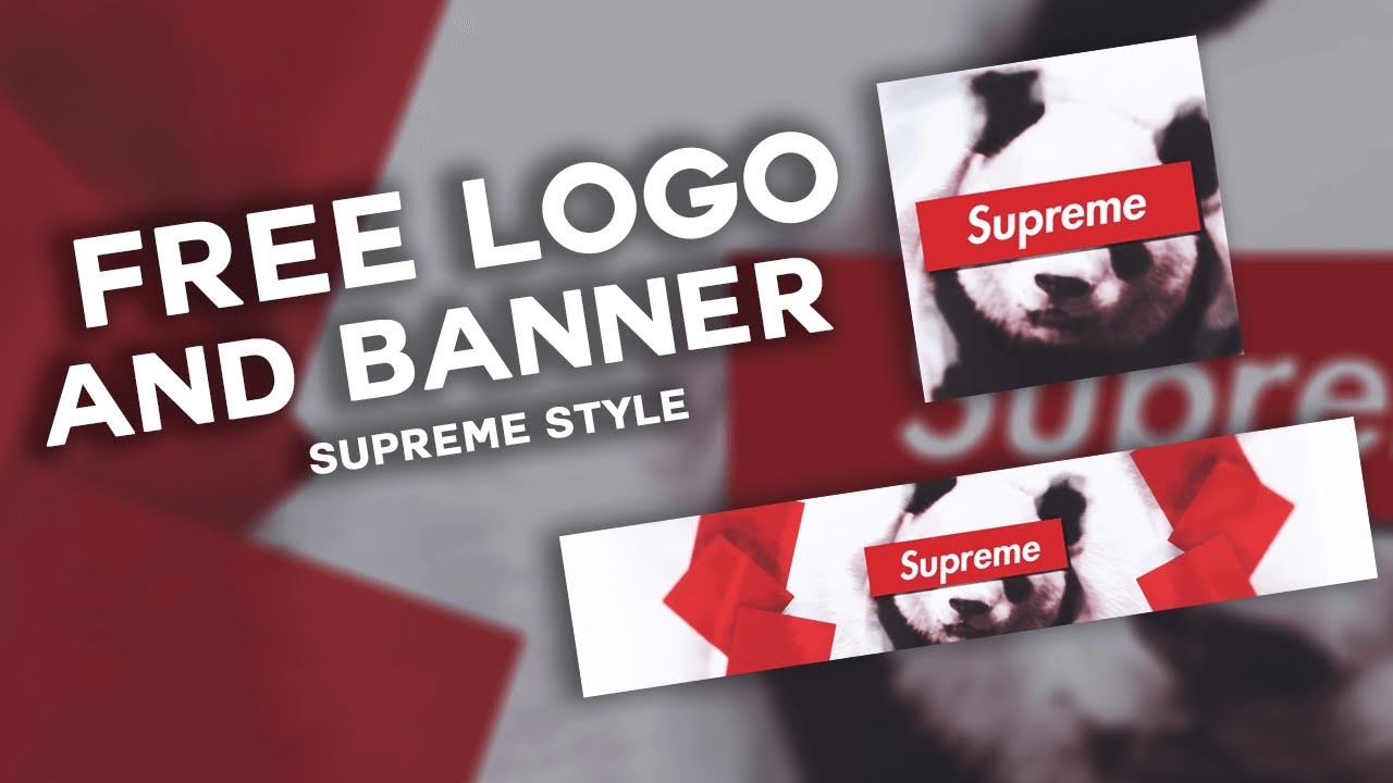free logo and banner supreme style free to use logo and banner