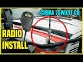How to install cb radio: Cobra 75WXST Off Road CB Radio