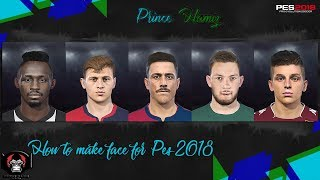 How to make face for pes 2018