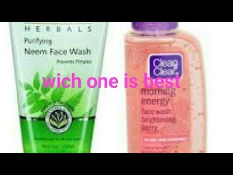 Himalaya Herbals Neem Face Wash V/S Clean & Clear Morning Energy Face Wash