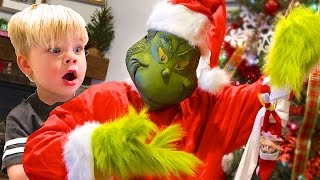 GRINCH vs. ELF ON THE SHELF! GRINCH CAUGHT ON CAMERA!